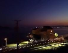 海岸線のライトアップ