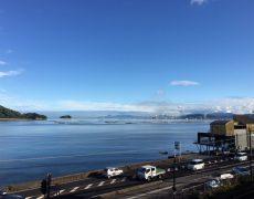 今日の午後、ホテル2階からの眺め