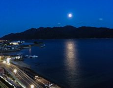ゲストルームから宮島を望む